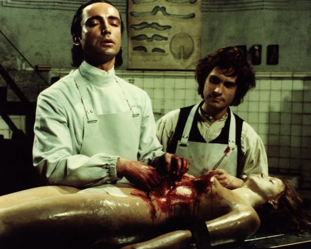 ANDY WARHOL'S FRANKENSTEIN, Udo Kier, Arno Juerging, 1974, bloody operation