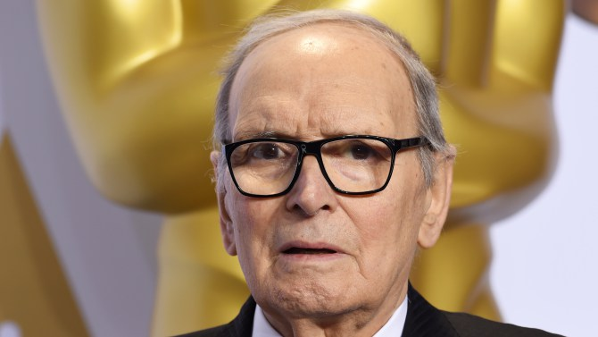 Mandatory Credit: Photo by David Fisher/REX/Shutterstock (5599373ju) Ennio Morricone - Original Score, The Hateful Eight 88th Annual Academy Awards, Press Room, Los Angeles, America - 28 Feb 2016