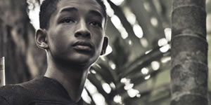 Jaden Smith in costume on the set of After Earth