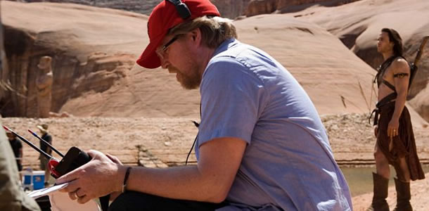 Andrew Stanton on the set of John Carter
