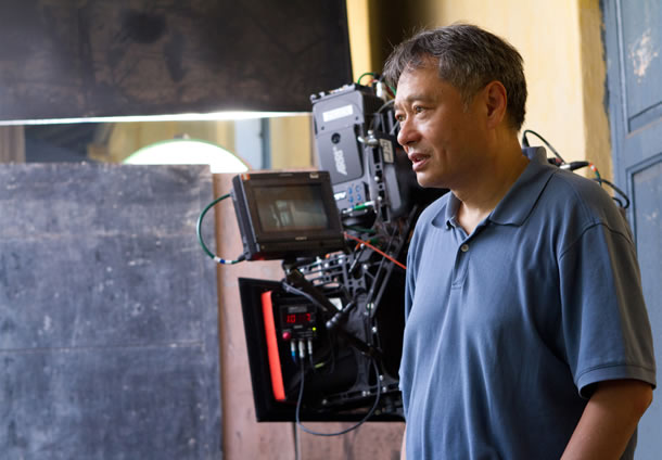 Ang Lee on the set of Life of Pi