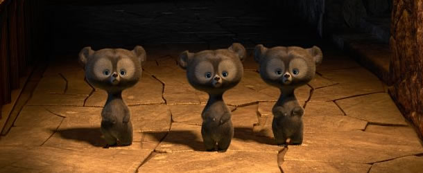 Triplets as bears in Brave