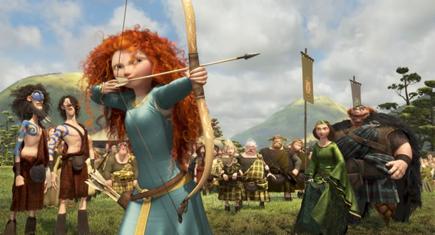 Merida (voiced by Kelly Macdonald) in Brave
