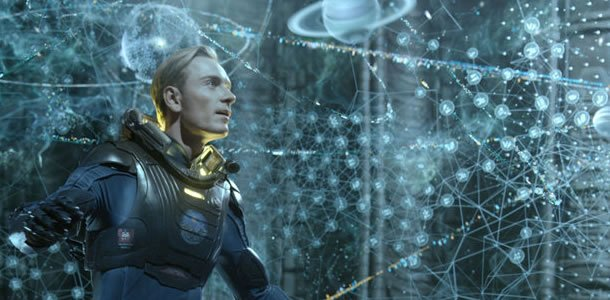 What did David say to the Engineer at the end of Prometheus