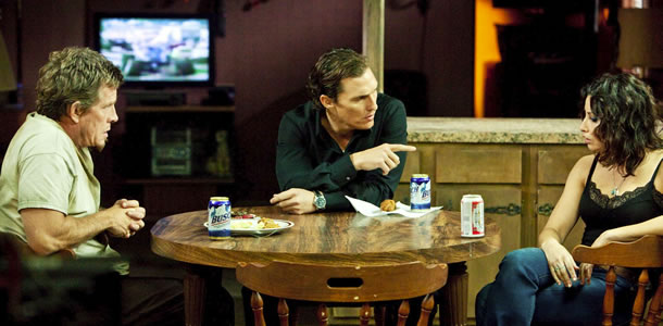 Thomas Haden Church, Matthew McConaughey and Gina Gershon in Killer Joe