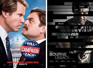 Friday Box-Office with The Bourne Legacy on top of The Campaign