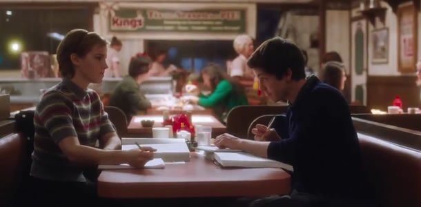Emma Watson and Logan Lerman in The Perks of Being a Wallflower