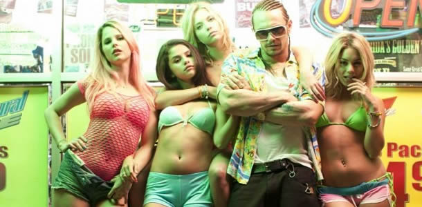 Rachel Korine, Selena Gomez, Ashley Benson, James Franco and Vanessa Hudgens in Spring Breakers