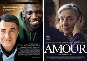 2013 Oscar Foreign Language contenders Amour and Intouchables