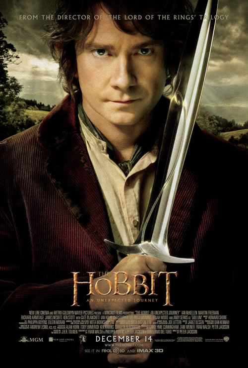 Hobbit Day poster featuring Bilbo Baggins in The Hobbit: An Unexpected Journey