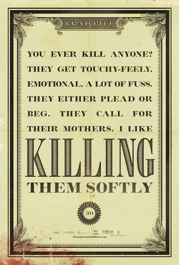 Killing Them Softly Mondo Poster #2
