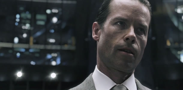 Guy Pearce as Peter Weyland in the Prometheus viral TED Talk 2023