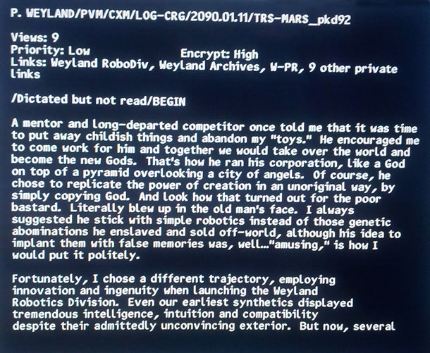 Screen capture from the Prometheus Blu-ray