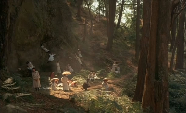 A scene from Picnic at Hanging Rock