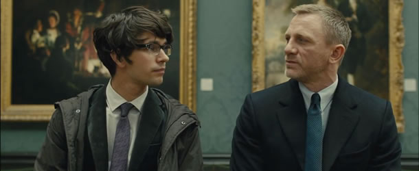 Ben Whishaw and Daniel Craig in Skyfall
