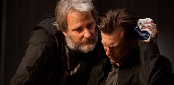 Jeff Daniels and Noah Segan in Looper