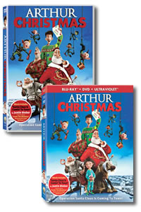 Arthur Christmas on DVD Blu-ray today