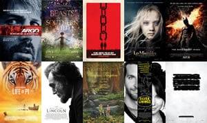 AFI Top Ten Movies of 2012
