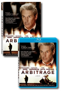 Arbitrage on DVD Blu-ray today
