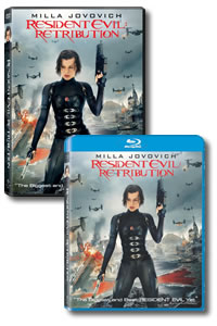Resident Evil: Retribution on DVD Blu-ray today