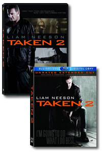 Taken 2 on DVD Blu-ray today