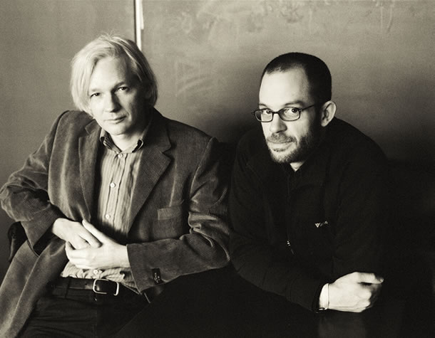 Julian Assange and Daniel Domscheit-Berg