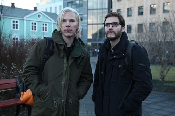 Benedict Cumberbatch and Daniel Brühl in The Fifth Estate