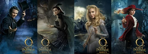 Oz the Great and Powerful character posters