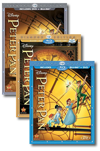 Peter Pan (Diamond Edition) on DVD Blu-ray today