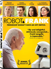 Robot and Frank on DVD Blu-ray today
