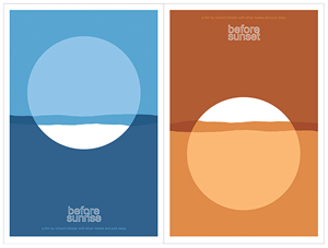 Before Sunrise / Before Sunset posters by Sam Smyth