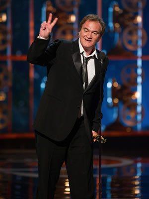 Quentin Tarantino at the 2013 Oscars