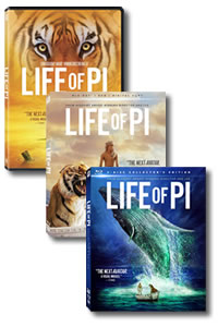 Life of Pi (Blu-ray 3-D) on DVD Blu-ray today
