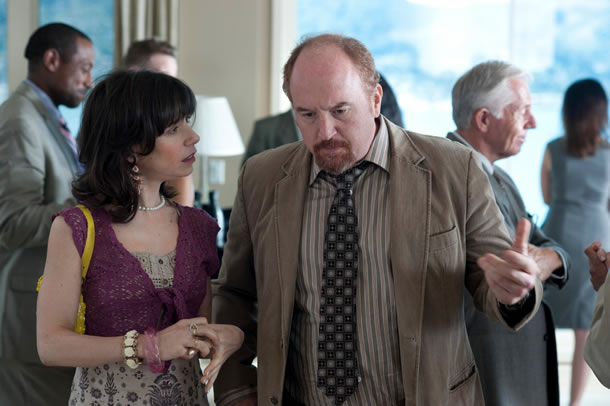 Sally Hawkins and Louis C.K. in Blue Jasmine