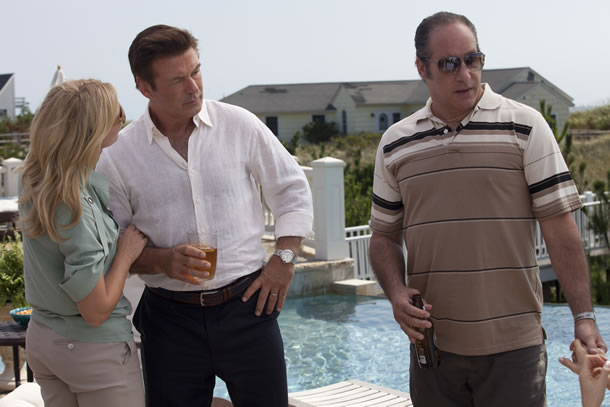 Cate Blanchett, Alec Baldwin and Andrew Dice Clay in Blue Jasmine