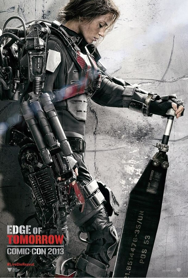 Edge of Tomorrow Comic Con Poster (Emily Blunt)
