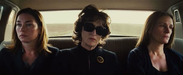Julianne Nicholson, Meryl Streep and Julia Roberts in August: Osage County