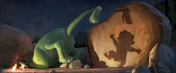 Concept art for The Good Dinosaur
