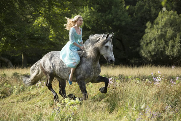 Lilly James in Cinderella