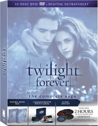 Twilight Forever: The Complete Saga on DVD Blu-ray today