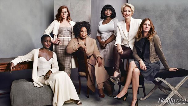 Lupita Nyong'o, Amy Adams, Oprah Winfrey, Octavia Spencer, Emma Thompson and Julia Roberts