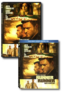 Runner Runner on DVD Blu-ray today