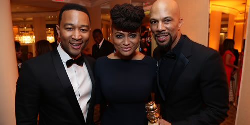 John Legend, Ava DuVernay, Common attend the Paramount Pictures Golden Globes Post Party