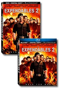 The Expendables 2 on DVD Blu-ray today
