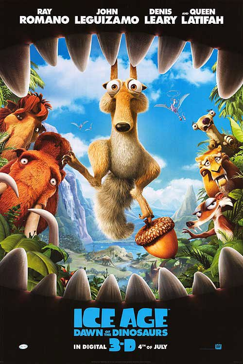 Opening July 1  the 3-D Ice Age 3 Poster