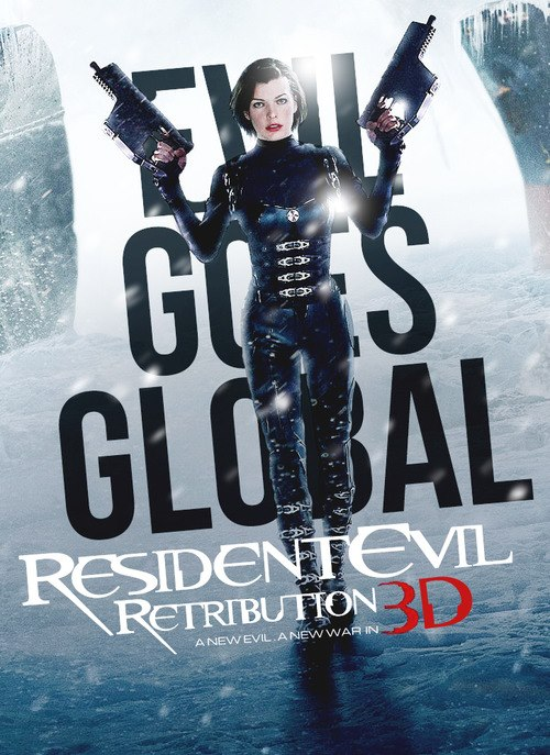 A New Evil A New War In This Resident Evil Retribution 3d Poster