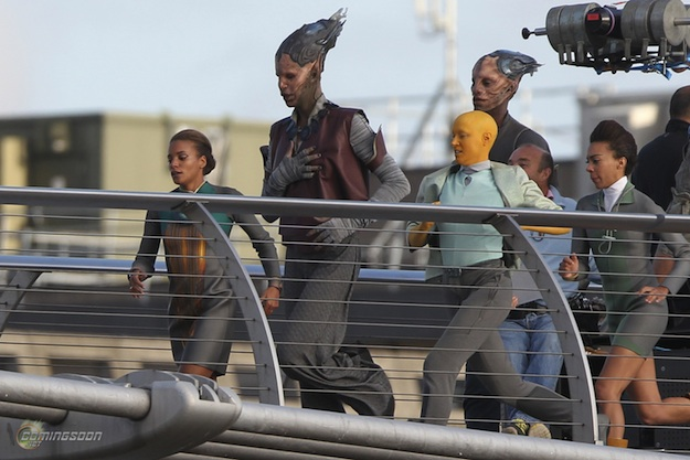 First images from the set of guardians of the galaxy comingsoon net