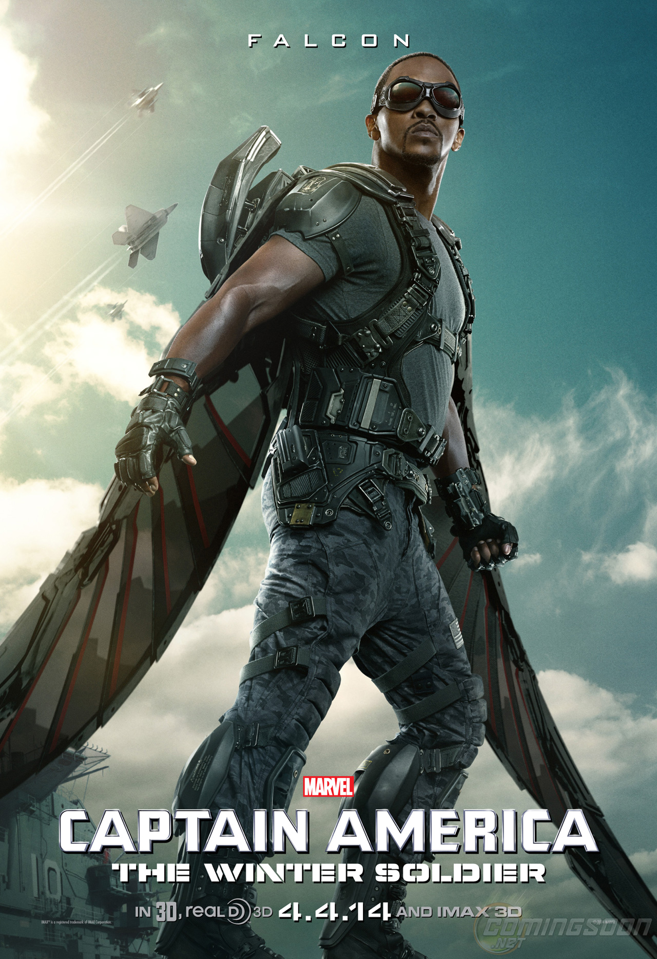 Exclusive: The Falcon Character Poster for Captain America ...