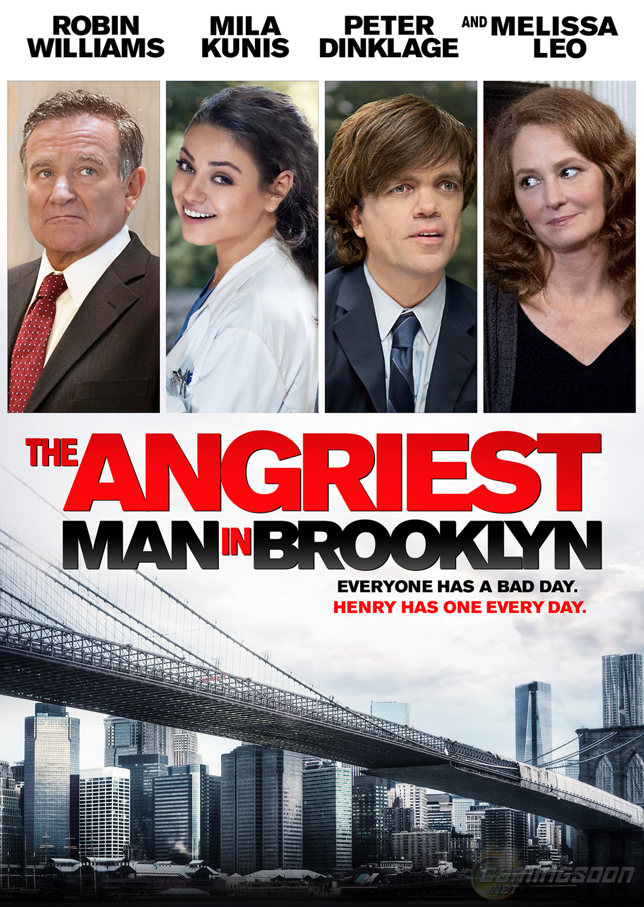 Exclusive Poster The Angriest Man In Brooklyn Starring