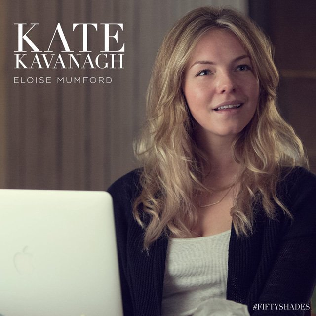 Eloise Mumford as Kate Kavanagh in Fifty Shades of Grey